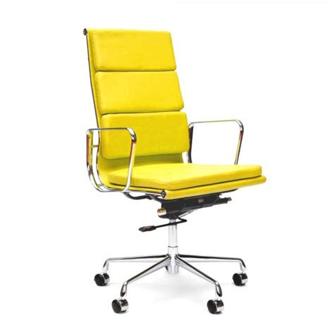 yellow office chair uk yellow soft pad style executive office chair cult uk