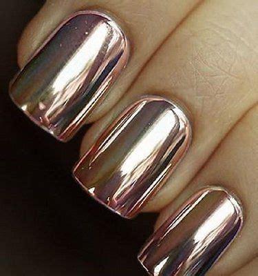 Gold Mirror Chrome Powder Nail Kuku Chrome Metal Korea Nail details about pink gold mirror chrome nail effect