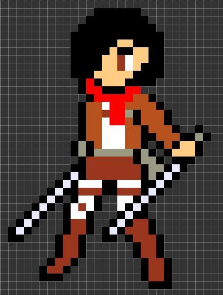 attack on titan pixel art template google search pixel