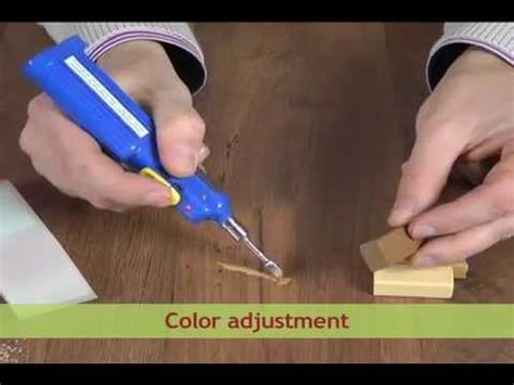 How to repair a scratch in laminate and wood   YouTube