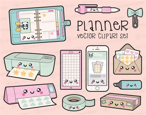 free printable planner art premium vector clipart kawaii planning clipart kawaii