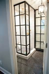 window pane shower door black steel framed shower doors subway tile with gray