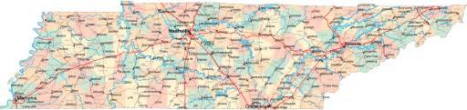 map of tennessee and carolina with cities tennessee tn travel around usa