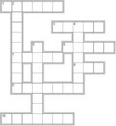 blank crossword puzzle templates