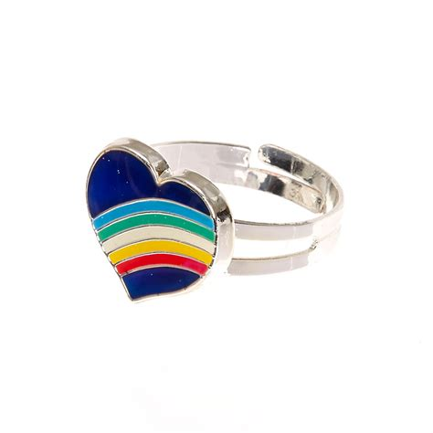 mood rings at claire s images frompo 1 rainbow heart mood ring claire s us