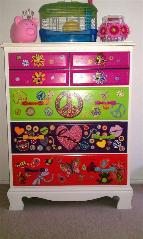 colorful dressers you have to see hand painted colorful girls dresser by
