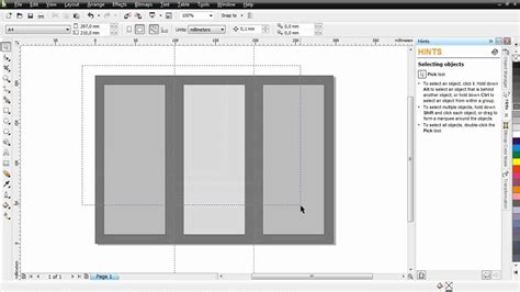 tutorial corel draw brosur cara membuat brosur lipat 3 coreldraw x4 mp4 youtube
