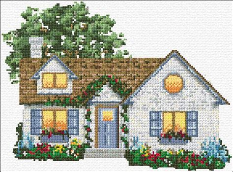 Stitch House free cross stitch house idea for cross