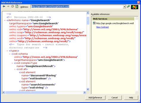 tutorial web service vb net the google web service implementing the google web