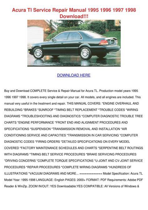 auto repair manual online 1997 acura cl windshield wipe control acura tl service repair manual 1995 1996 1997 by feliciadailey issuu