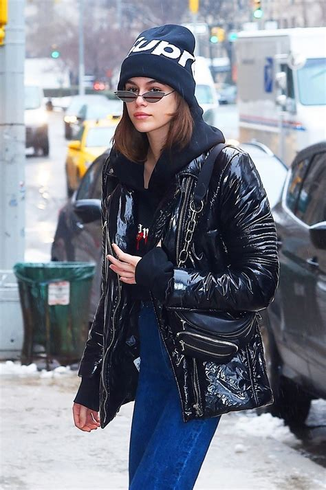 kaia gerber casual kaia gerber in casual outfit in new york city