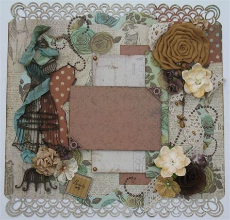 scrapbook layout vintage premade scrapbook page 12x12 vintage shabby chic layout