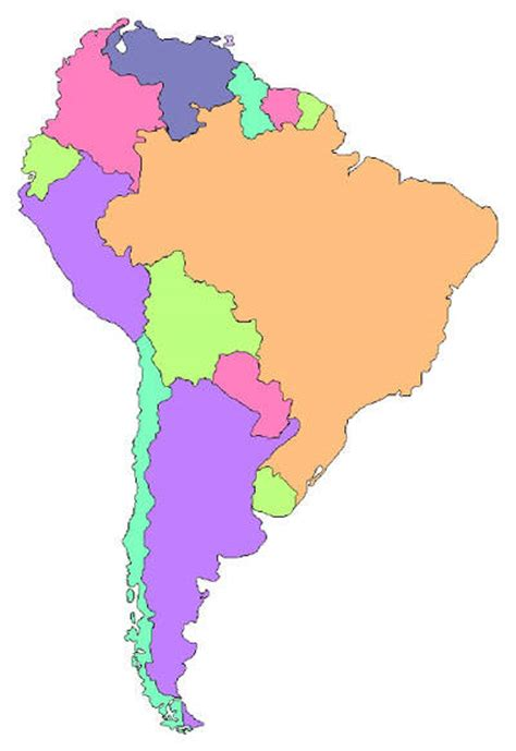south america map borders america map clipart best