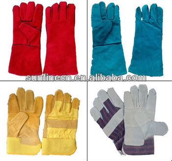 Sarung Tangan Fitter 16 inch leather weld protective work gloves gauntlet cow leather protective gloves