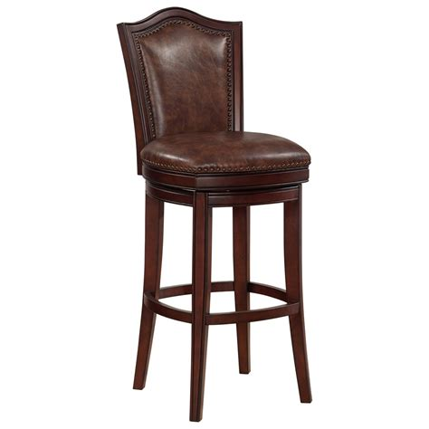 American Heritage Billiards Bar Stool by American Heritage Billiards 130165 Upholstered