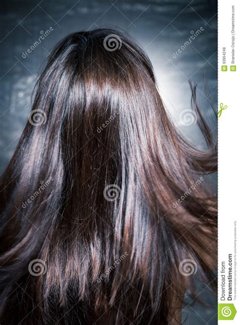 long hait back shot shiny hair in motion stock photo image 63954248