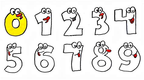 Drawing Numbers by Numbers Drawing How To Draw And Paint Numbers 0123456789