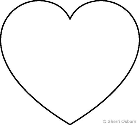 heart template pattern printables pinterest