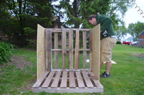 dog houses made out of wood diy dog house from recycled wooden pallets tutorial