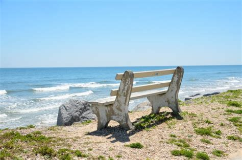 bench on the beach bench seat on the beach free stock photo public domain