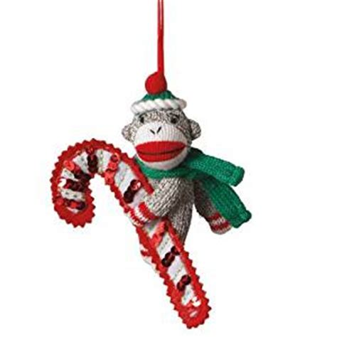 amazon com midwest cbk sock monkey with candy cane
