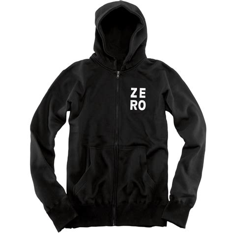Zipper Hoodie Polygon Zero Clothing zero numero zip hoodie black