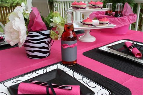 pink and black bridal shower decorations preview the celebration shoppe