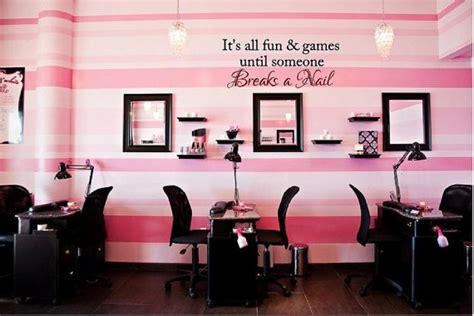 colors for hair salon walls fun games until someone breaks a nail vinyl wall