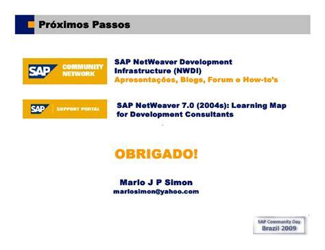 sap nwdi tutorial sap comunity day brasil 2009 sap nwdi