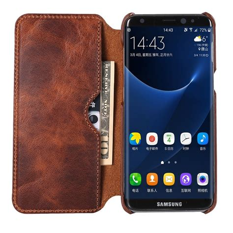 Flipcover Samsung Galaxy S8 Plus Flip Cover Leather S8 Cove T0310 real genuine leather flip for samsung galaxy s8 plus s 8 cell phone retro vintage leather