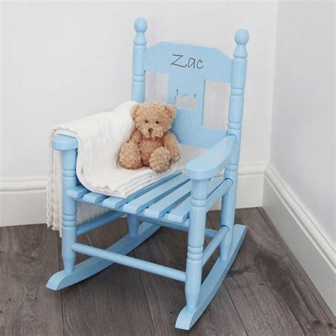 Childs Wooden Chair Personalised - personalised child s rocking chair by my 1st years