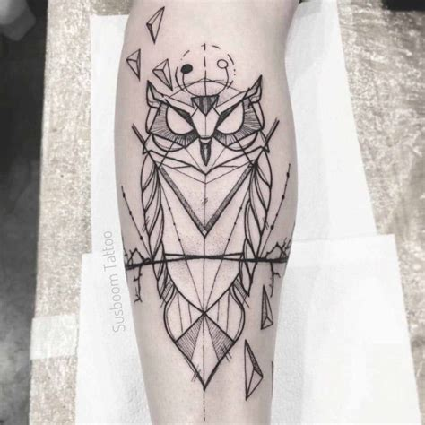 owl geometric tattoo best tattoo ideas gallery
