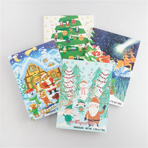 Chocolate Advent Calendar Wawi Chocolate Advent Calendar Set Of 4 World Market