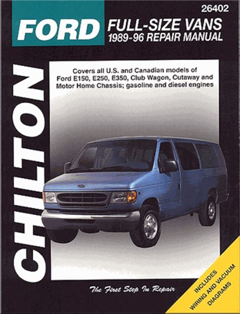 book repair manual 1998 ford club wagon electronic toll collection 1996 ford econoline van manual