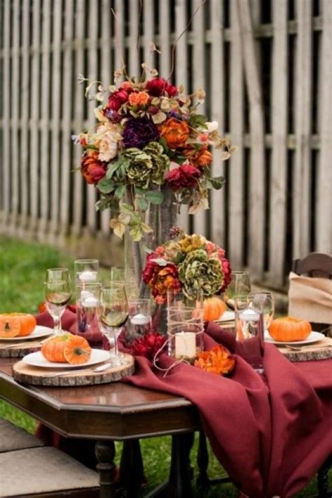 fall table decorations for wedding receptions 25 beautiful fall wedding table decoration ideas 2053665