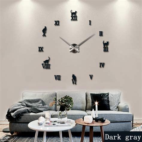 Decorative Wall Clocks For Living Room 2016 Large Decorative Wall Clocks Brief Design Diy Clocks Digital Quartz Living Room 3d