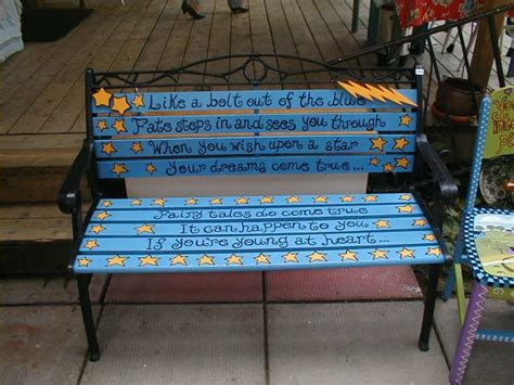 painted garden bench garden bench garden pinterest