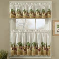 Kitchen Drapes And Curtains Herb Kitchen Curtains Curtain Drapery