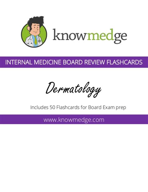 internal medicine board review dermatology flashcards  knowmedge