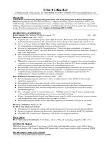 entry level project manager resume sles to inspire you
