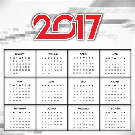 design calendar 2017 elegant design of new year 2017 calendar vector free