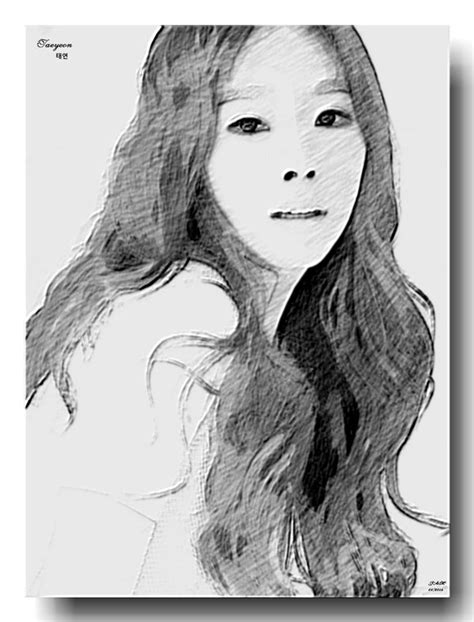 Taeyeon Sketch taeyeon of snsd in pencil sketch by joe4112 on deviantart