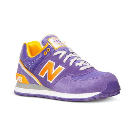mens purple sneakers new balance mens 574 stadium jacket casual sneakers from