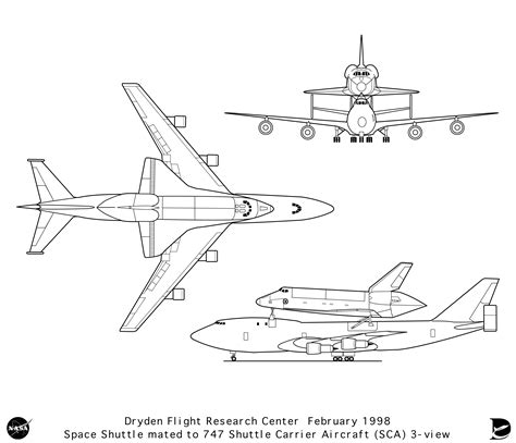 airplane diagram for aircraft boeing 747 300 space shuttle smcars net