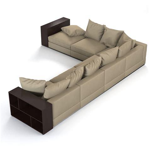 flexform groundpiece sofa flexform groundpiece sofa 3d model
