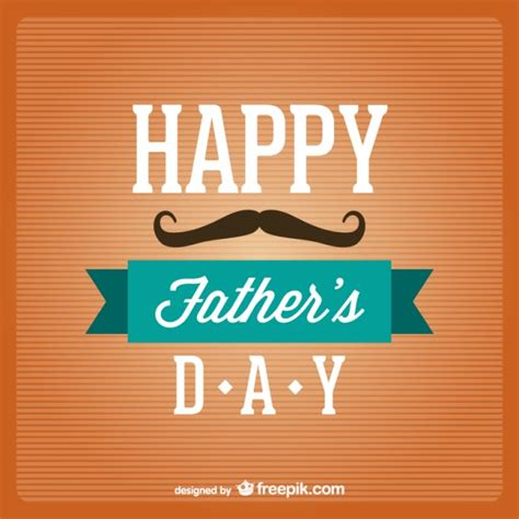 fathers day template s day typography vector vector free vector