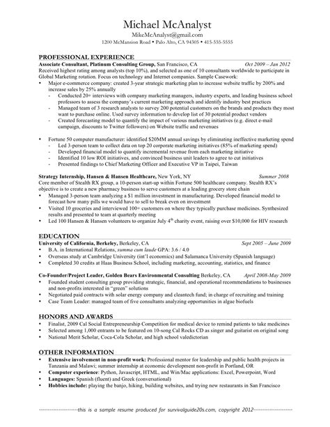 a great resume template exles of resumes resume a with summary for 89