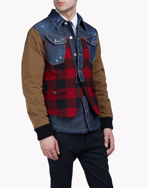 Buffalo Check Denim Jacket dsquared2 s clothing fall winter 16 17 official store