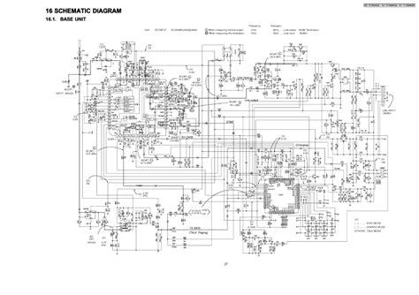 panasonic telephone circuit diagram circuit and