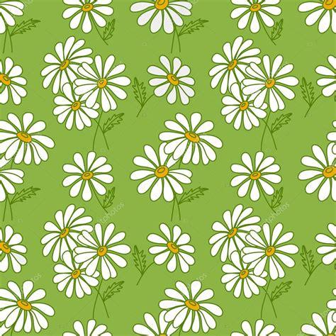 daisy background pattern vector green seamless daisy pattern stock vector 169 amalga